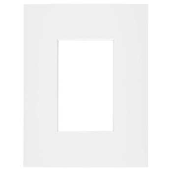 "White Single Opening Pre-Cut Museum Mat - 4"" x 6"""